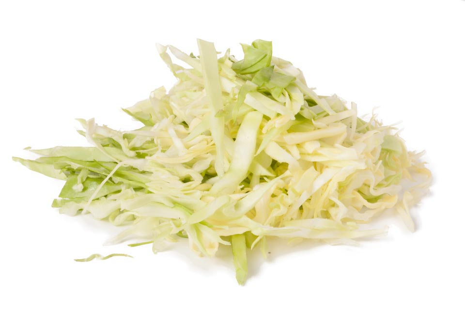 White cabbage, diced
