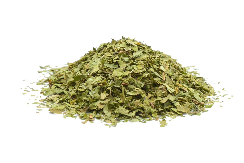 Lovage herb, rubbed