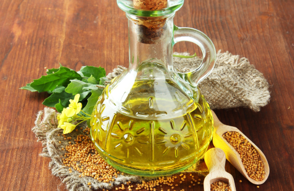 Mustard oil, coldpressed