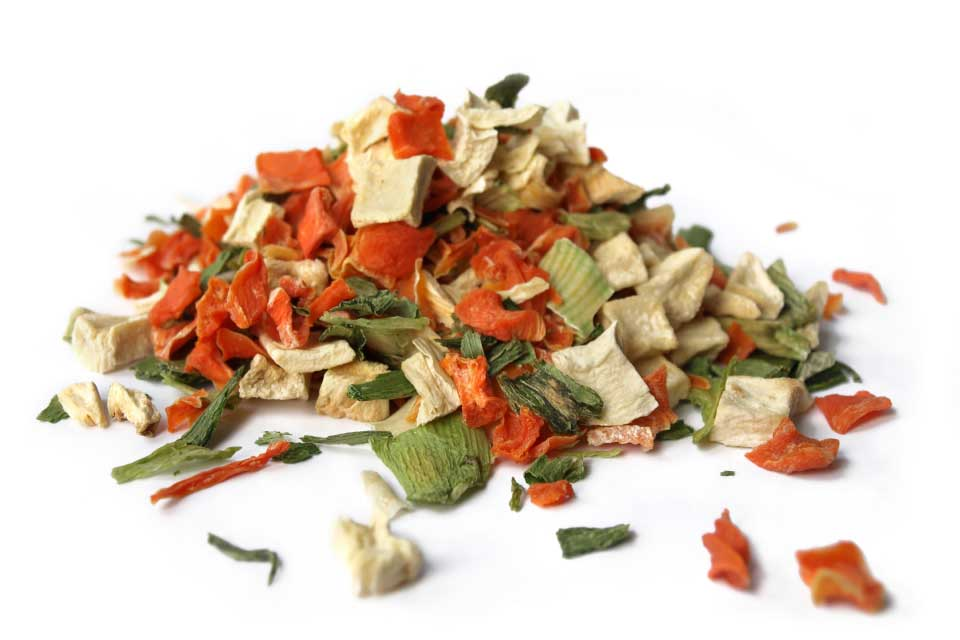 Dehydrated soup vegetables